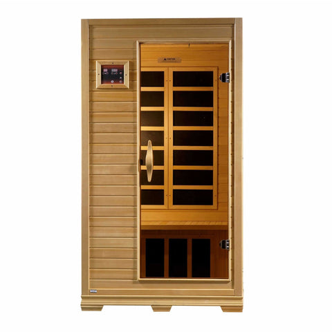 Golden Designs Infrared Saunas Golden Designs Studio Series 1-to-2-Person Low EMF  Far Infrared Sauna Canadian Hemlock