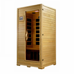 Golden Designs Studio Elite 1-2-person PureTech™ Near Zero Far Infrared Sauna Canadian Hemlock GDI-6109-01 Elite