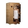 Image of Golden Designs Infrared Saunas Golden Designs Studio Series 1-to-2-Person Low EMF  Far Infrared Sauna Canadian Hemlock
