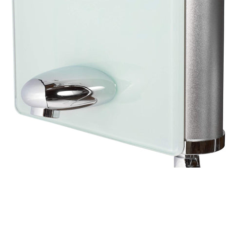 PULSE ShowerSpas Lahaina White Glass Shower Panel 1030
