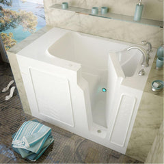 Meditub Walk-In Right Drain White Soaking Bathtub 2952RWS