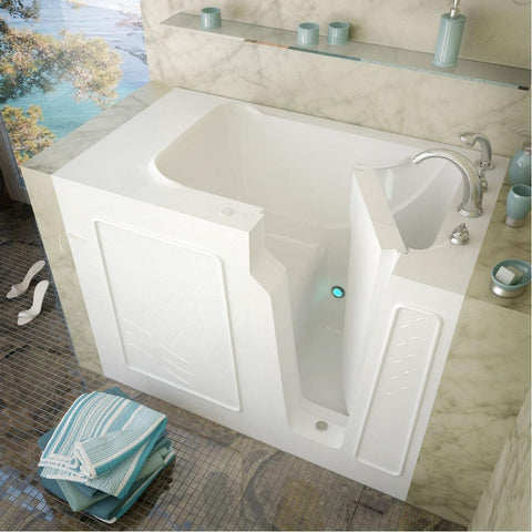 Meditub Walk-In Left Drain Biscuit Soaking Bathtub 2952LBS