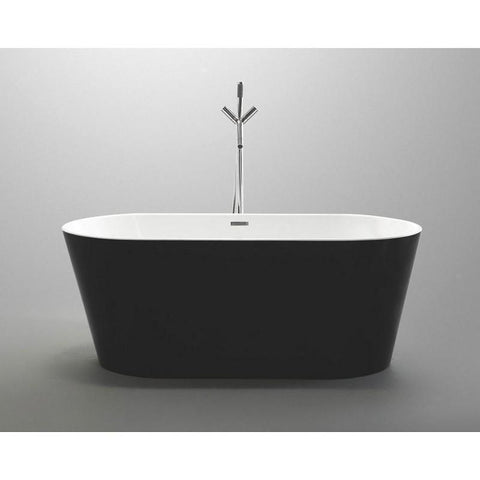 "MTD Vanities Laguna 67"" Freestanding Bathtub In Black MTD-LAG-67B"