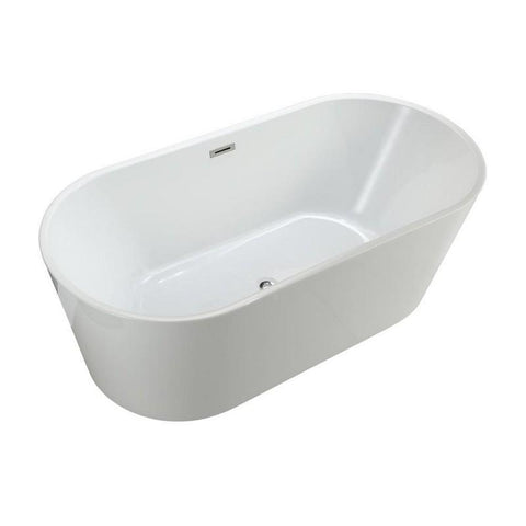 "MTD Vanities Laguna 67"" Freestanding Bathtub In White MTD-LAG-67"