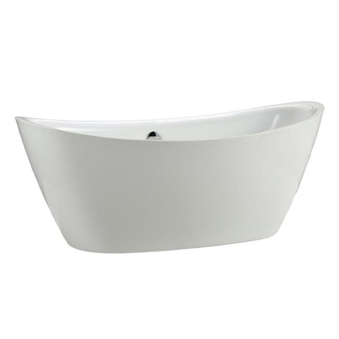 "MTD Vanities Newport 67"" Modern Freestanding Bathtub In White MTD-NEW-67"