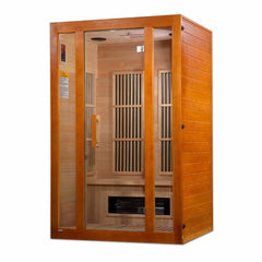 Golden Designs Maxxus Aspen Dual Tech 2-Person Low EMF FAR Infrared Sauna Canadian Hemlock MX-J206-02S