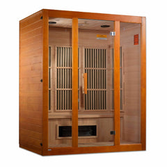 Golden Designs Maxxus Alpine Dual Technology 3-Person Low EMF FAR Infrared Sauna Canadian Hemlock MX-J306-02S