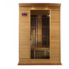 Golden Designs Maxxus 2-Person Low EMF FAR Infrared Carbon Canadian Hemlock Sauna MX-K206-01