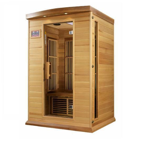 Golden Designs Infrared Saunas Copy of Golden Designs Maxxus Seattle Edition 2-Person Low EMF FAR Infrared Carbon Canadian Hemlock Sauna