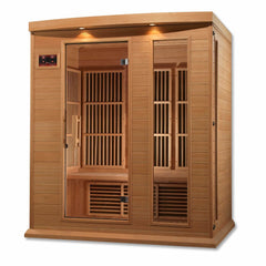 Image of Golden Designs Maxxus 3-Person Low EMF FAR Infrared Carbon Canadian Hemlock Sauna MX-K306-01