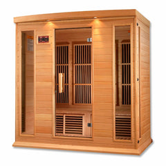 Image of Golden Designs Maxxus 4-Person Low EMF FAR Infrared Carbon Canadian Hemlock Sauna MX-K406-01