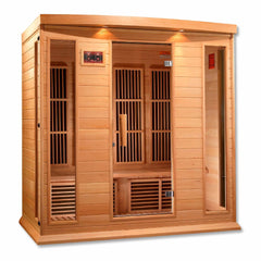 Golden Designs Maxxus 4-Person Low EMF FAR Infrared Carbon Canadian Hemlock Sauna MX-K406-01
