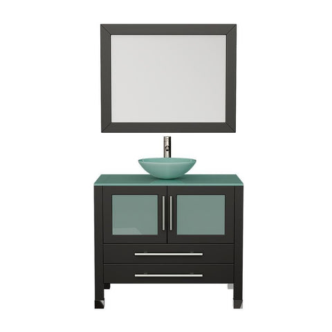 "Cambridge Plumbing 36"" Single Sink Bathroom Vanity Set 8111-B"