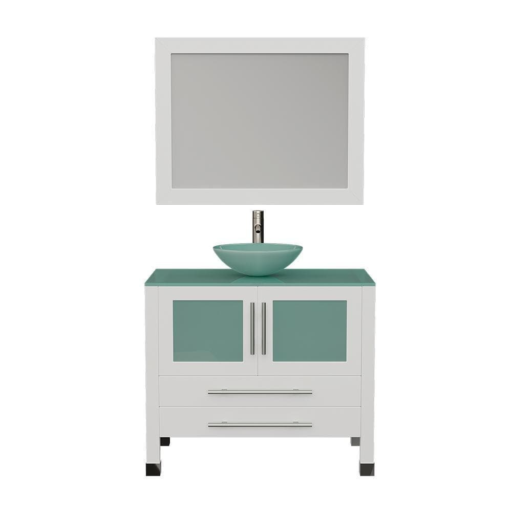 "Cambridge Plumbing 36"" Single Sink Bathroom Vanity Set 8111BW"