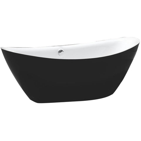 "MTD Vanities Newport 67"" Freestanding Bathtub In Black MTD-NEW-67B"