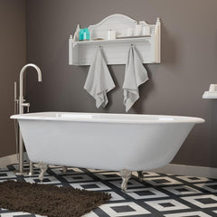 Cambridge Plumbing Cast-Iron Rolled Rim Clawfoot Bathtub 61
