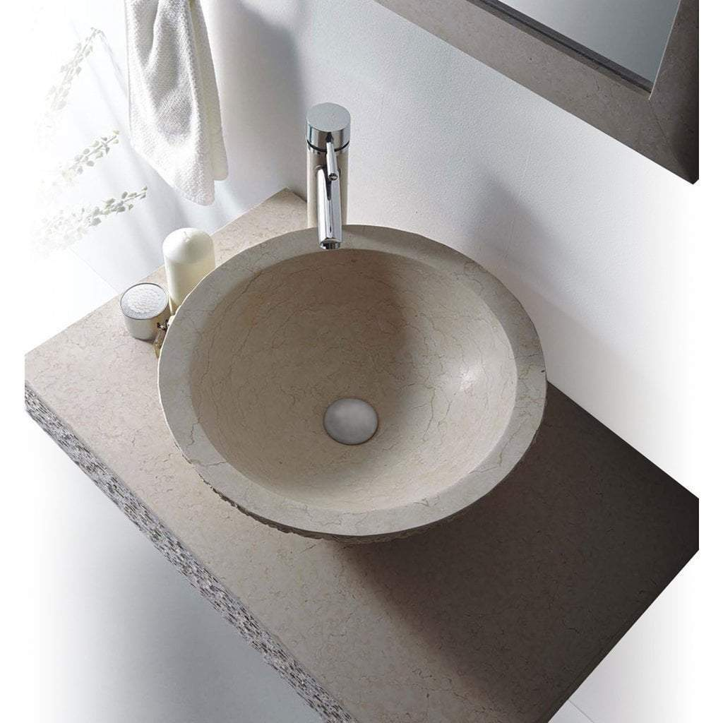 "MTD Vanities Rome 36"" Single Vessel Sink Wall Mount Vanity In Marble Rome-36"