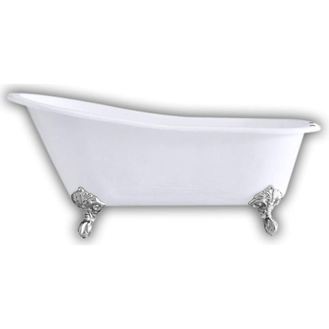 "Cambridge Plumbing Cast Iron Slipper Clawfoot Bathtub 67"" X 30"" ST67"