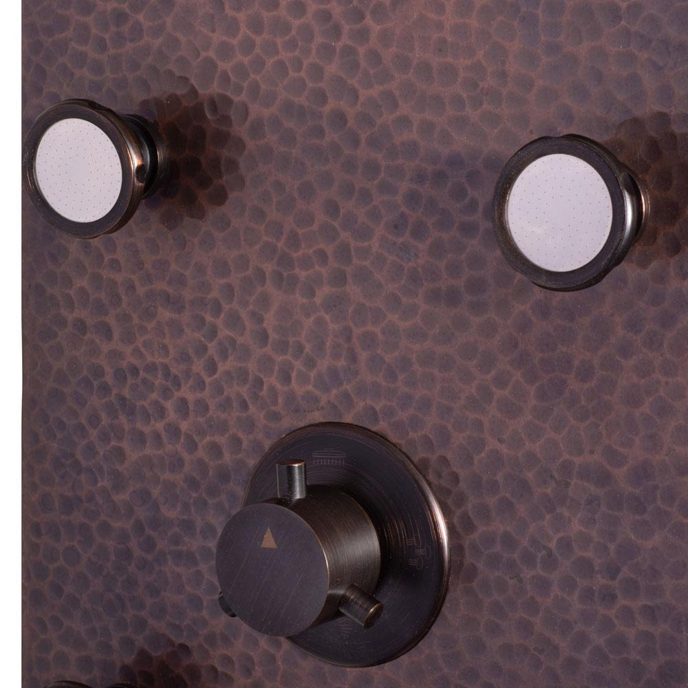 PULSE ShowerSpas Sedona Hammered Copper ORB Shower Panel 1041