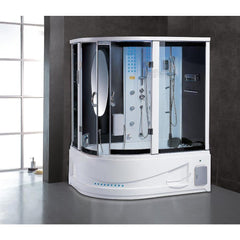 Maya Bath Siena-White-Right Drain Computerized Steam Shower 114
