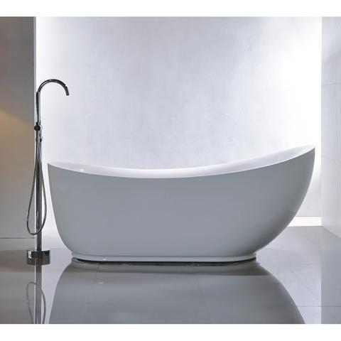 "Legion Furniture 71"" Freestanding Bathtub in White WE6512"