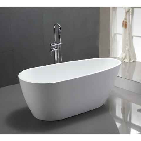 "Legion Furniture 68"" Egg Shaped Freestanding Bathtub in White WE6515"