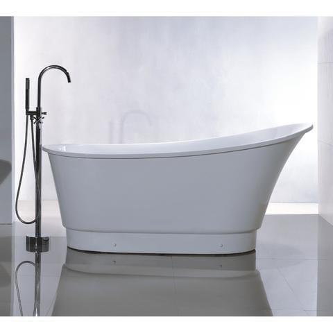 "Legion Furniture 67"" Freestanding Slipper Bathtub in White WE6803"