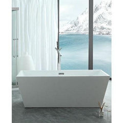 "Legion Furniture 67"" Double Ended Freestanding Bathtub in White WE6813"