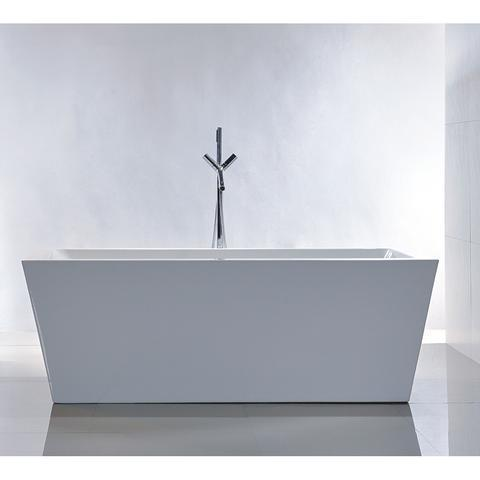 "Legion Furniture 67"" Double Ended Freestanding Bathtub in White WE6814"