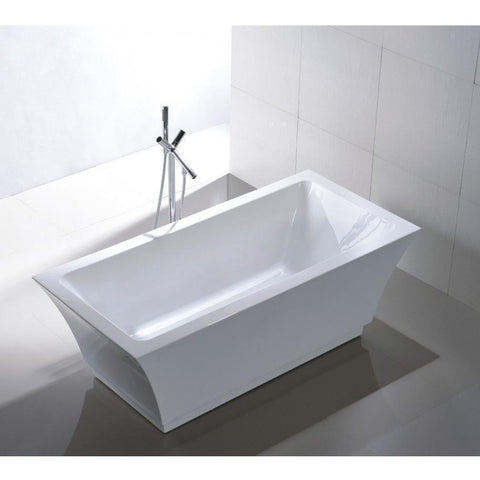 "Legion Furniture 67"" Double Ended Freestanding Bathtub in White WE6817"