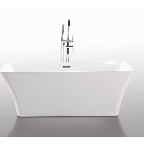 "Legion Furniture 67"" Rectangular Freestanding Bathtub in White WE6840"