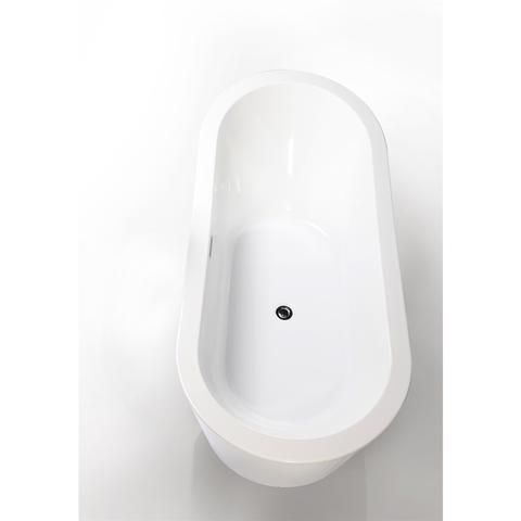 "Legion Furniture 67"" Freestanding Soaking Bathtub in White WE6841"