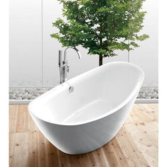 "Legion Furniture 71"" Freestanding Bathtub in White WE6842"
