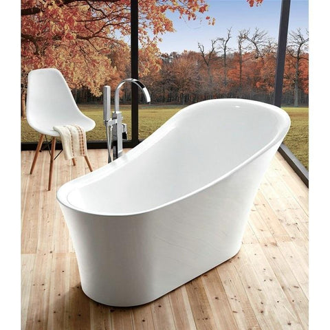 "Legion Furniture 67"" Freestanding Bathtub in White WE6843"
