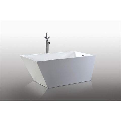 "Legion Furniture 67"" Freestanding Bathtub in White WE6844"