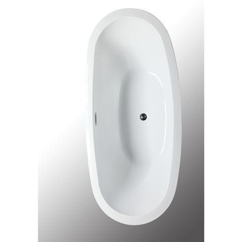 "Legion Furniture 69"" Double Slipper Freestanding Bathtub in White WE6845"