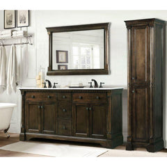 "Legion Furniture 60"" Double Sink Bathroom Vanity in Antique Coffee WLF6036-60"