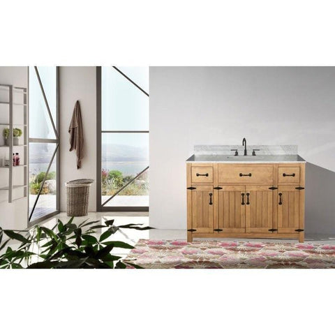 "Legion Furniture 48"" Bathroom Vanity in Weathered Light Brown WLF6044-48"