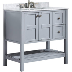Image of ANZZI Montaigne 36 in. W x 35 in. H Bathroom Vanity Set in Rich Gray V-MGG013-36