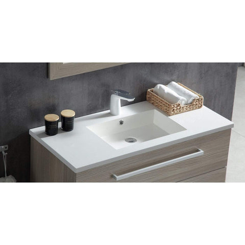 ANZZI Conques 39 in. W x 20 in. H Bath Vanity in Rich Gray V-CQC003-39
