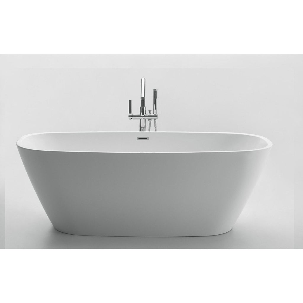 ANZZI Bridge Series Freestanding Bathtub in White FT-AZ108