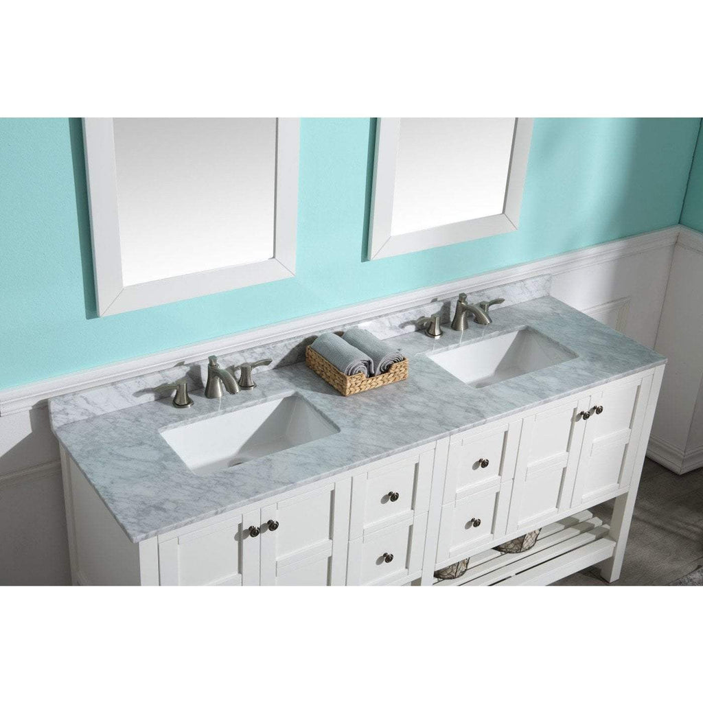 ANZZI Montaigne 72 in. W x 35 in. H Bathroom Vanity Set in Rich White V-MGG011-72