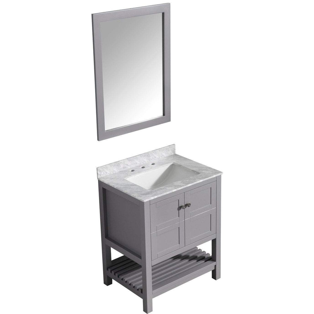 ANZZI Montaigne 30 in. W x 35 in. H Bath Vanity in Rich Gray V-MGG013-30