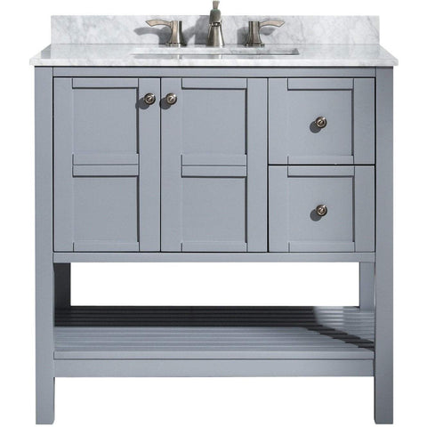 ANZZI Montaigne 36 in. W x 35 in. H Bathroom Vanity Set in Rich Gray V-MGG013-36