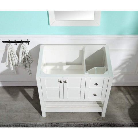 ANZZI Montaigne 30 in. W x 35 in. H Bathroom Vanity Set in Rich White V-MGG011-30