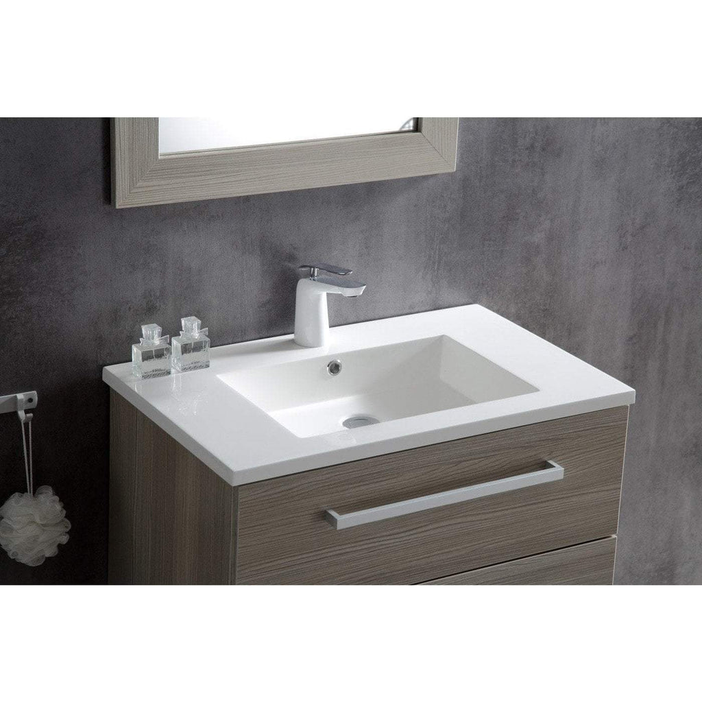 ANZZI Conques 30 in. W x 20 in. H Bath Vanity in Rich Gray V-CQC033-30