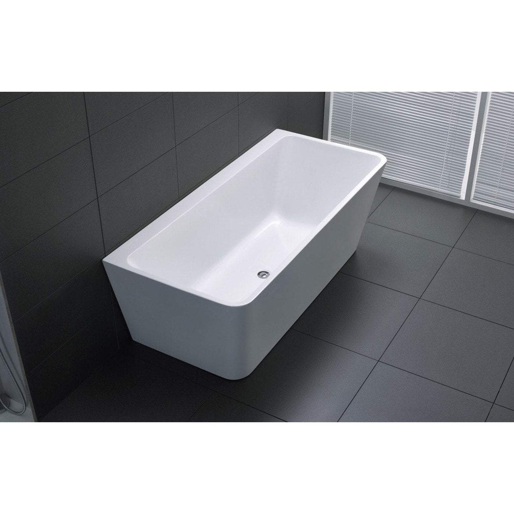 ANZZI Strait Series Freestanding Bathtub in White FT-AZ109