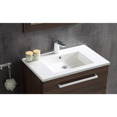 ANZZI Conques 30 in. W x 20 in. H Bath Vanity in Rich Brown V-CQC007-30