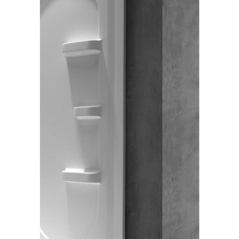 ANZZI Studio 38 in. x 38 in. x 75 in. 2-piece Direct-to-Stud Corner Shower Surround in White SW-AZ007WH