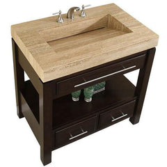 "Silkroad Exclusive 36"" Modern Single Sink Bathroom Vanity HYP-0218-T-36"